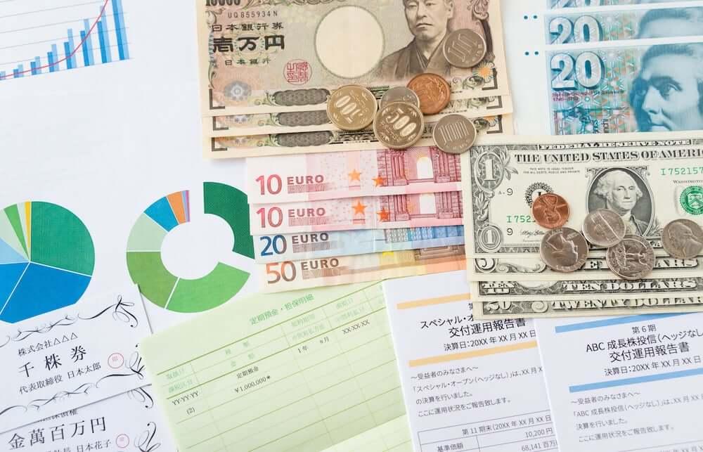 様々な金融商品と通貨