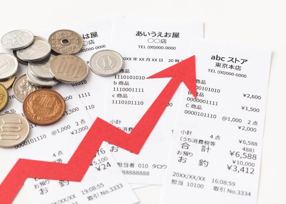 インフレで物価上昇